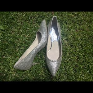 Michael kids flex kitten pump silver